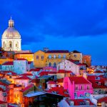Blue Hour, Lisbon Skyline, National Pantheon, Vasco da Gama Bridge, Lisbon, Portugal